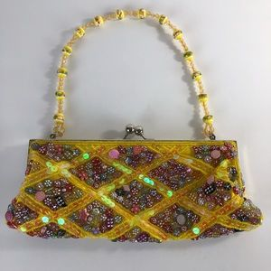Handbags - BEADED SEQUIN CLUTCH PURSE